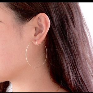 Sterling Silver handcrafted wire hoops by NAHNYM